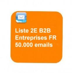 Fichier emails B2B 50.000e